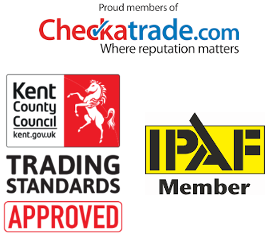 Gutter cleaning accreditations, checktrade, Trusted Trader, IPAF in Tonbridge